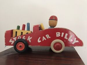 Antique Brio Stock Car Billy Wooden Pull-toy