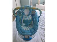 Blue baby bouncer chair