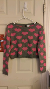 Long Sleeve Crop Top Sweater Size XS