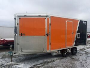 2015 Mission 101X16T/A Enclosed Snowmobile Trailer