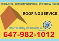 FREE ESTIMATE = No 1. ROOFING = Same Day Service !