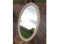 Oval, Shabby Chic Mirror