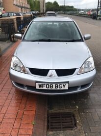2008 Mitsubishi Lancer, 1.6 petrol, £1100. Open to offers, need gone due to new car.