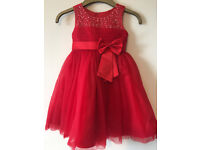 Red Girl's Party Dress / Frock / Bridesmaid / Flower Girls