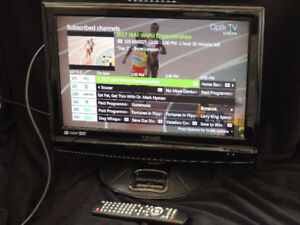 """19"""" LCD TV with HDMI Port and IPOD 5th Generation Docking"""