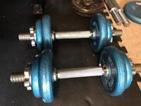 dumbell set cast iron