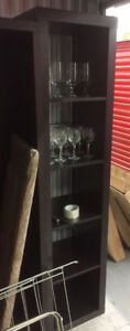Tall Brown Shelf Units (set of 2) $60 each or 2 for $100