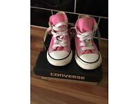 Girls Pink Hi Top Converse