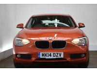BMW 1 SERIES 2.0 116D SE [BMW MAINTENANCE PACK] 5d 114 BHP (orange) 2014