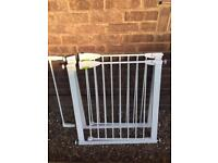 2 lindam safety gates and 1 extension