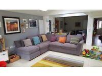 Corner sofa - nearly new!