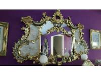 Mirror gold rococo barogue french ornate carved gilding leaf