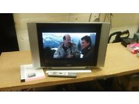 "humax 20"" lcd tv with remote and instructions"