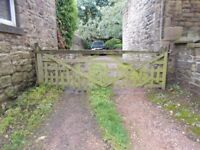 RUSTIC OLD WOODEN FIELD GATE