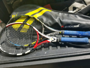 2 Babolat Tennis racquets with new Strings!