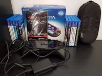 PS Vita Slim Boxed, 2 8GB Memory Cards, 10 Games + Accessory Bundle