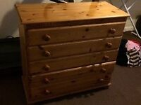 SET OF PINE CHEST OF DRAWERS
