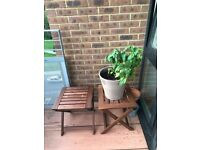 2 x IKEA Foldable Wooden Stools - Need to Sell before 24th August