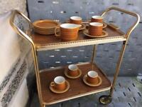 Hornsea 'Saffron' 6 cups,6 saucers,6 side plates & milk jug