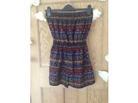 Colourful patterned playsuit (uk size 10/12)