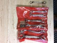 Pouch of 6 NEW AF ring spanners Britool + spare