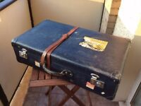 Pair of vintage Globetrotter suitcases