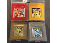 Nintendo Gameboy Pokemon Gold Silver Red Yellow Games Bundle PAL GBA GENUINE