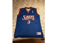 iverson sixers jersey size xl