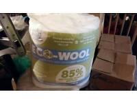 Eco wool loft insulation 2 rolls unopened