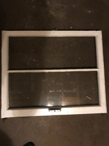 Antique Wood Window Sashes (1x2 Grill)