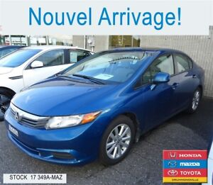 2012 Honda Civic EX+BLUETOOTH+REG.VITESSE+A/C