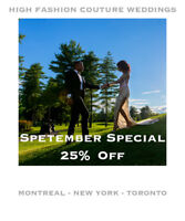 Amazing Wedding Photographers! 25% Discount in September!