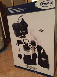 Sump Pump System with Battery Backup - Proflo - Brand New