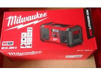 MILWAUKEE M18JSR-0 18V CORDLESS JOB SITE RADIO 240V NEW IN BOX