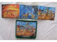 Cube Puzzle x2, The Lion King, wooden Animals