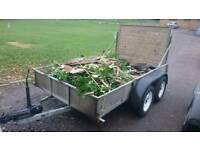 9ft x 5half ft Trailer (needs 1 wheel and one hub as lost on motorway other day)