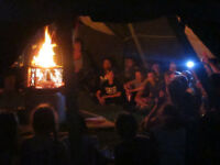 8 METRE PARTY WIGWAM TIPI YURT 50 KIDS AROUND THE FIRE LEAVE UP ALL YEAR LONG