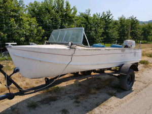 16ft aluminum with a 50hp evenrude