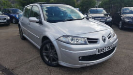 2007 RENAULT MEGANE GT SPORT 2.0DCI 150BHP,FULL PANORAMIC SUN ROOF,EXCELLENT CONDITION