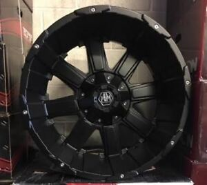 "20"" Mayhem Chaos Matte Black Rims CLEARANCE PRICING"