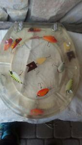 BRAND NEW. clear fishing lures toilet seat
