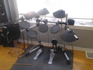 Yamaha E drum set and Behringer Amp for sale