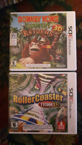 3DS/DS Games: Donkey Kong Country, RollerCoaster Tycoon, etc.