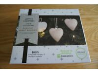 Ceramic Heart Baubles (Box of 6) - paint yourself
