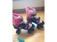 No fear roller boots Pink and Black fits size UK 1 - 4 used twice