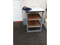 Steel Work Bench including Vice