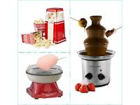 Wanted: candy floss machine / chocolate fountain / popcorn maker