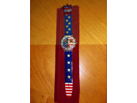 Collectable Swatch Watch, American Dream, 1995, BNWOT - Needs New Battery