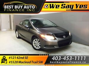2012 Honda Civic Ex-L Coupe 5-Spd AT W/ NAV $99/Bi-weekly