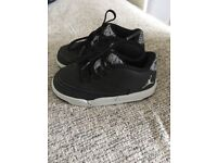 Young Boys Size 7.5 Black and Grey Jordan Trainers